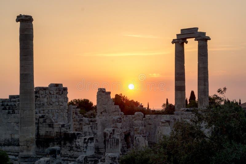 Tempel av Apollo Didyma fotografering för bildbyråer