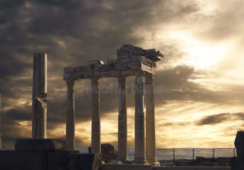 Tempel av Apollo i sida royaltyfri bild