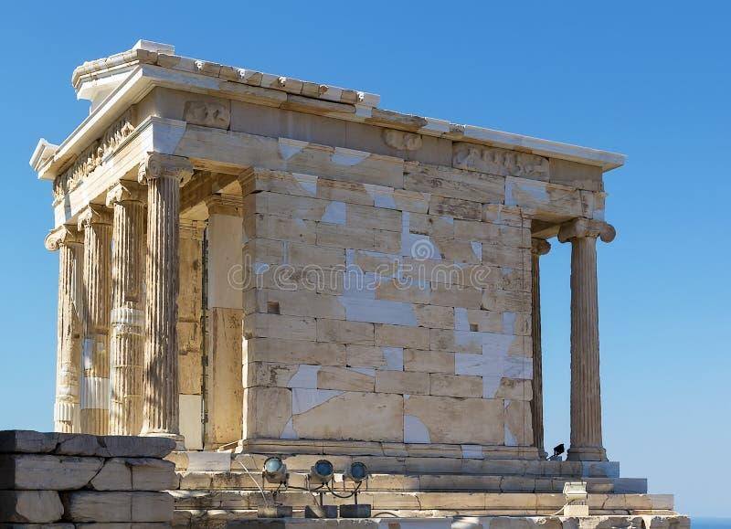 Tempel av Athena Nike, Aten royaltyfria foton