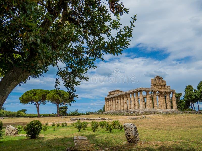 Tempel av Athena, Paestum royaltyfria foton