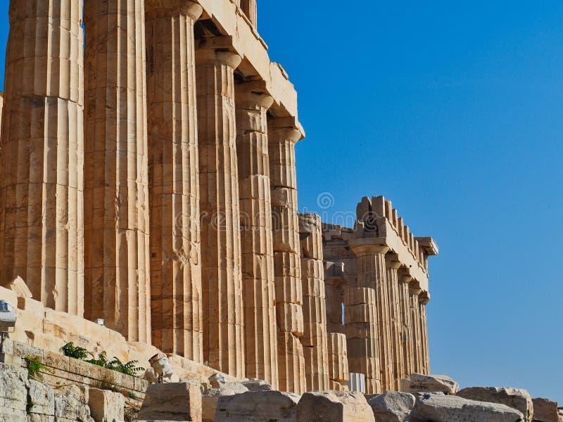 Tempel av Athena, parthenonen, Aten, Grekland arkivbilder