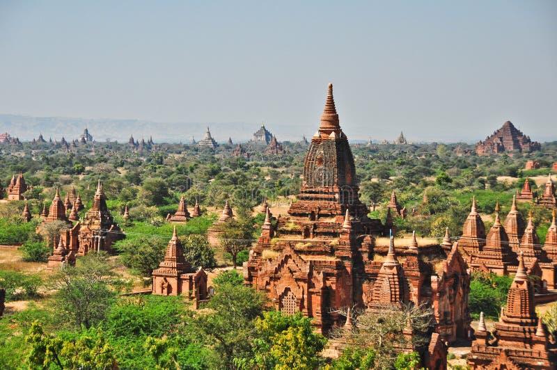Tempel av bagan, Burma royaltyfri fotografi
