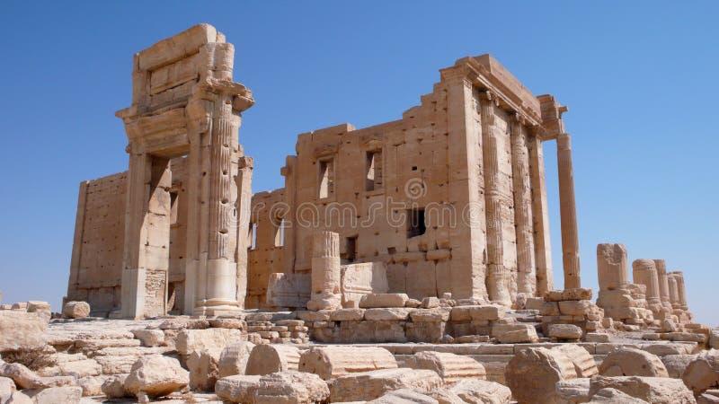 Tempel av belen i Palmyra. Syrien arkivfoto