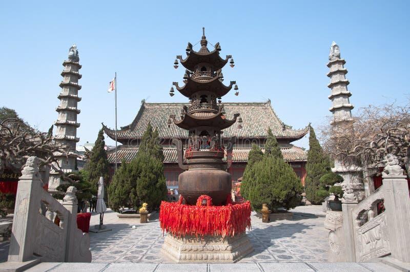 Tempel av chief minister, Kaifeng, Kina royaltyfria bilder