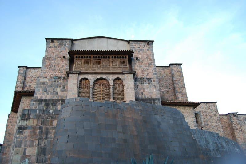 Tempel av Coricancha Cuzco arkivfoton