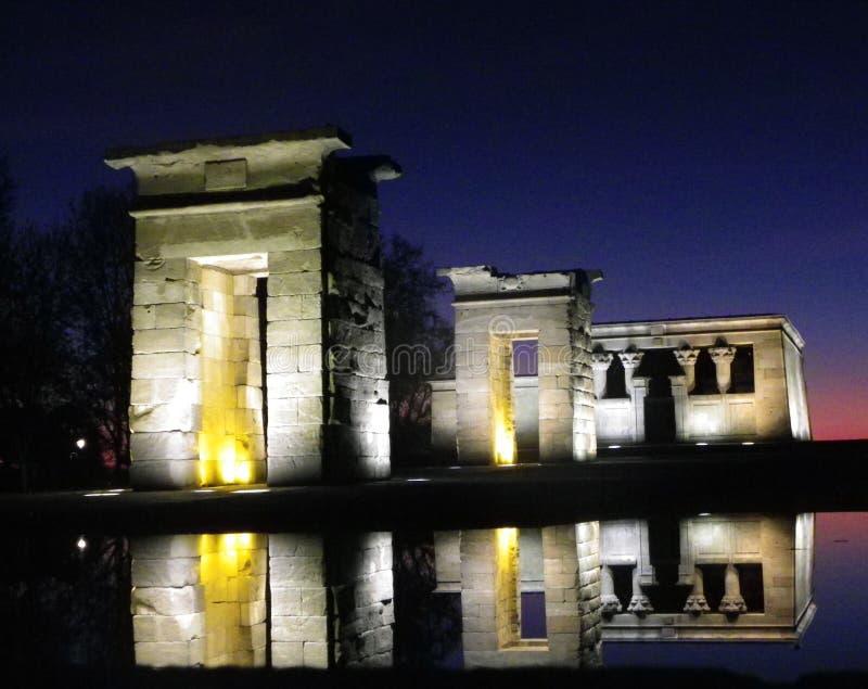 Tempel av `-Debot ` i mitten av madrid fotografering för bildbyråer