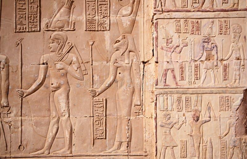 Tempel av Deir el-Hagar, romerska monument i den Dakhla oasen arkivbilder