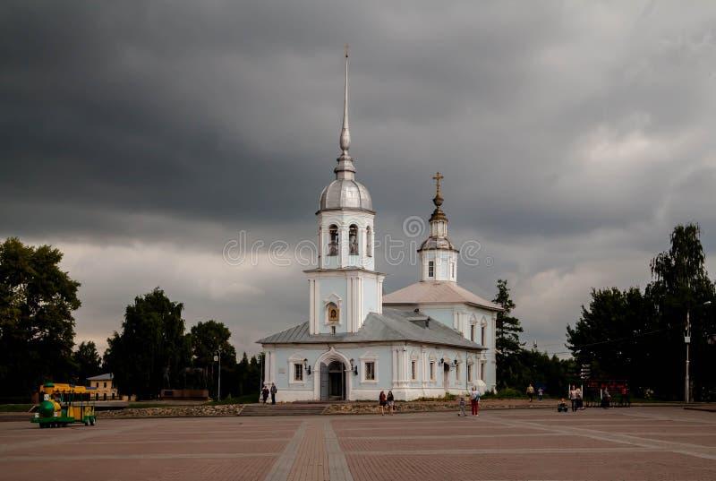 Tempel av den heliga välsignade prinsen Alexander Nevsky, Vologda, Ryssland arkivfoton