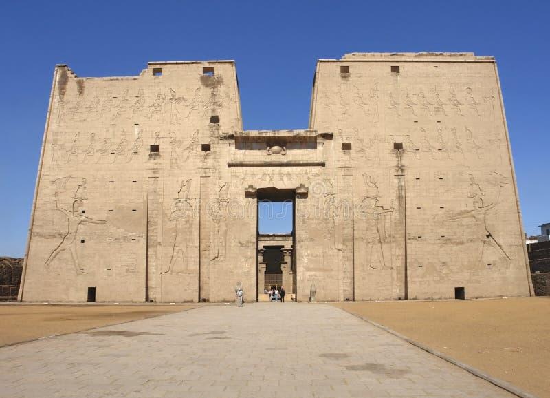 Tempel av Edfu arkivfoto