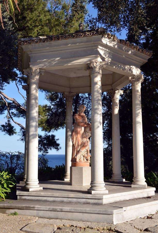 Tempel av förälskelse av villan Rothschild, Frankrike royaltyfri fotografi