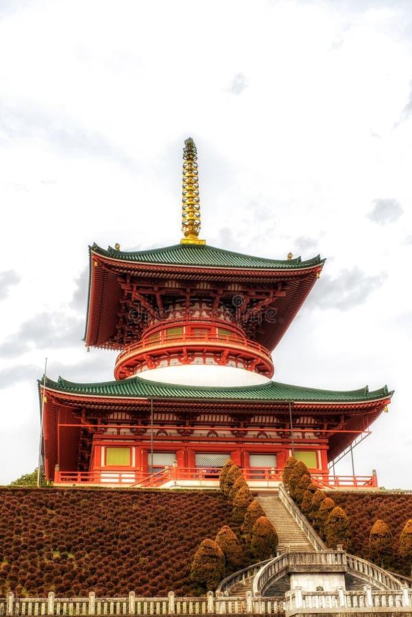 Tempel av fredpagoden, buddistisk tempel för Naritasan shinshoji, Nar royaltyfri bild