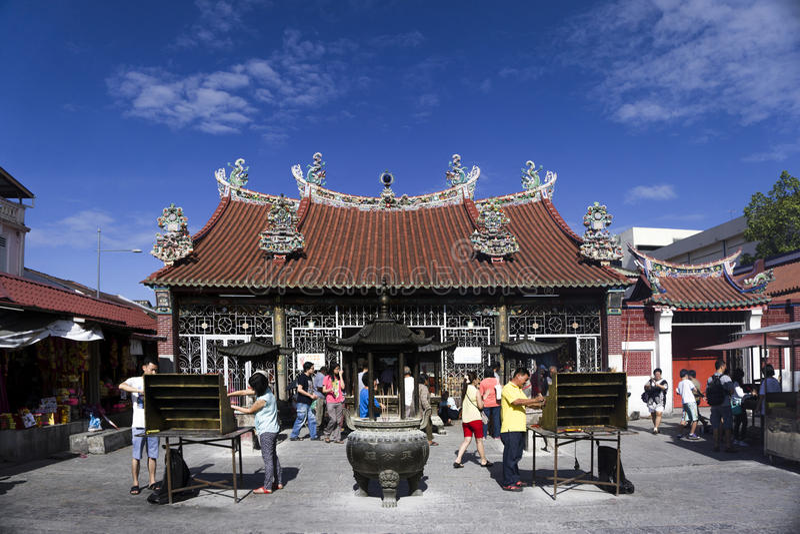Tempel av gudinnan av förskoning i Penang Malaysia arkivbilder