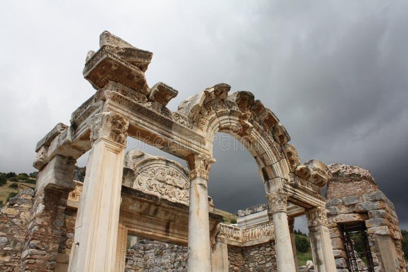 Tempel av Hadrian, Ephesus (Efes), Turkiet arkivbild