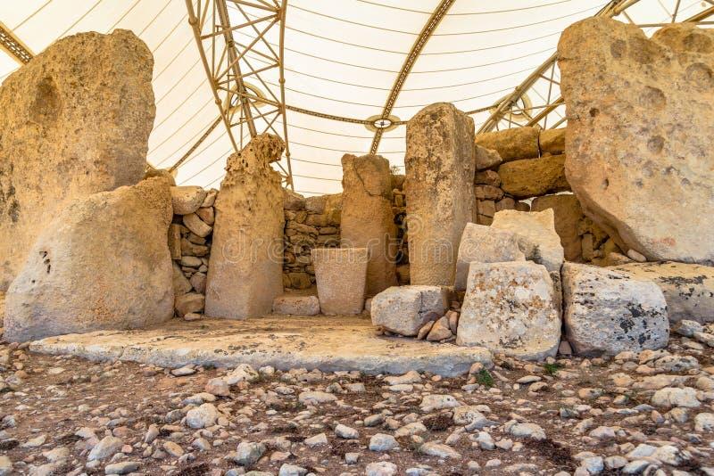 Tempel av Hagar Qim arkivbilder