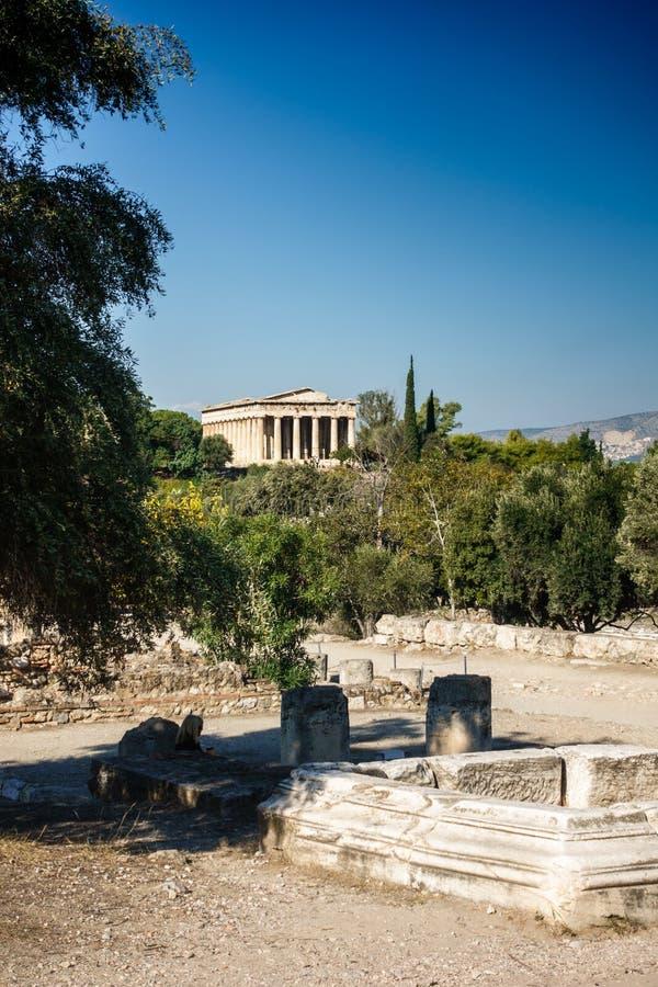 Tempel av Hephaestus royaltyfria foton