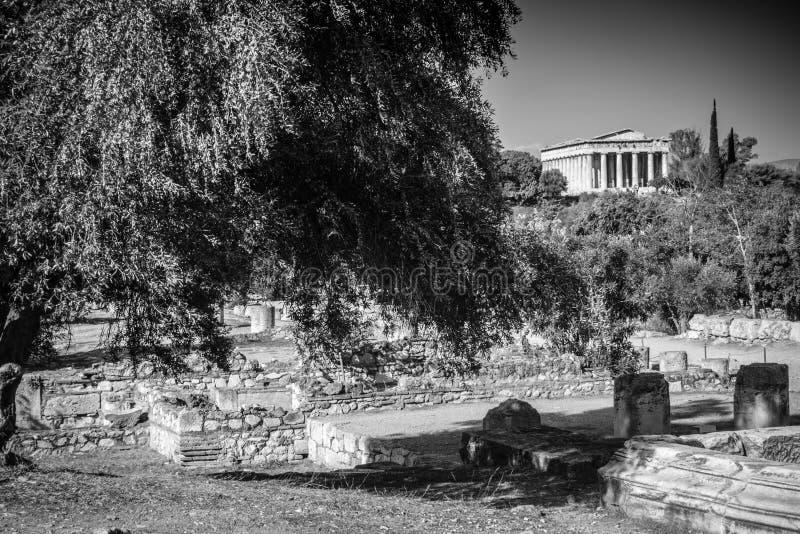 Tempel av Hephaestus arkivfoto