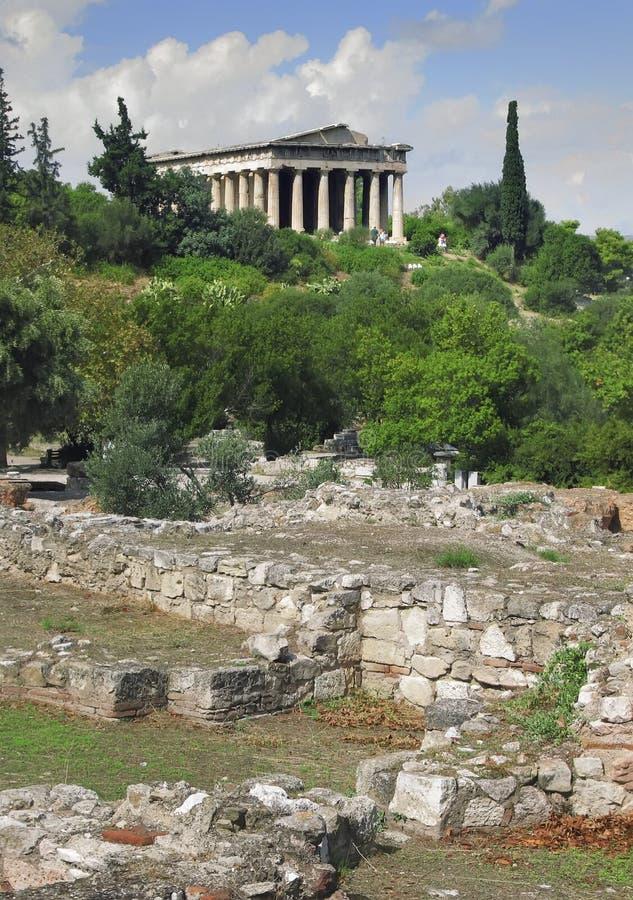 Tempel av Hephaestus royaltyfri foto