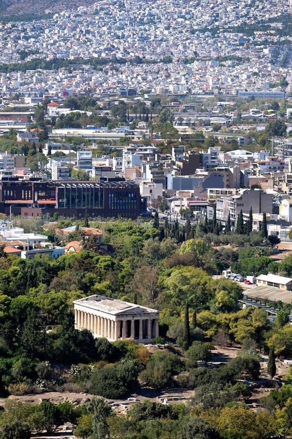 Tempel av Hephaestus och Aten arkivbilder