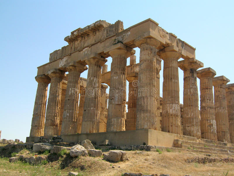 Tempel av Hera i Selinunte royaltyfria foton