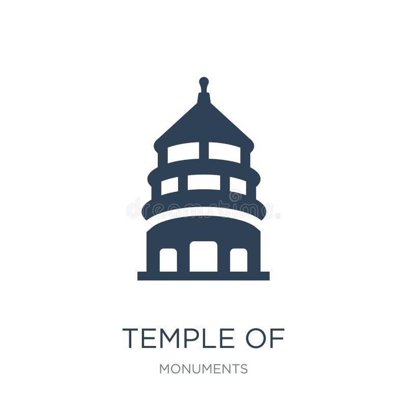tempel av himmel i den beijing symbolen i moderiktig designstil tempel av himmel i den beijing symbolen som isoleras på vit bakgr stock illustrationer