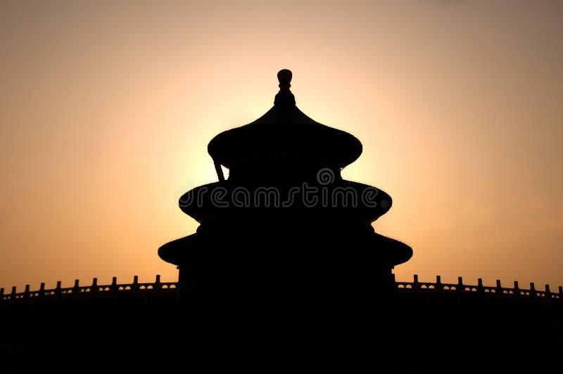 Tempel av himmel i konturn, Peking, Kina arkivfoton
