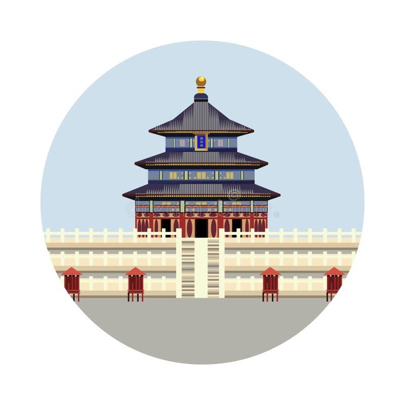 Tempel av himmelsymbolen vektor illustrationer