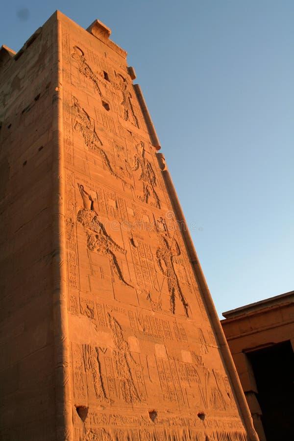 Tempel av Isis At Philae royaltyfria foton