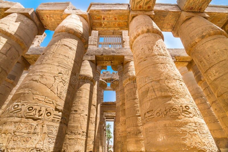 Tempel av Karnak (forntida Thebes). Luxor Egypten royaltyfria bilder