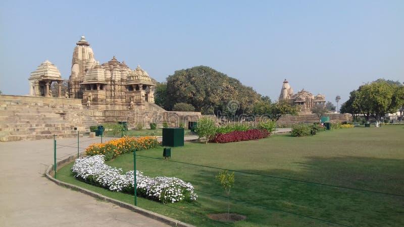 Tempel av Khajuraho royaltyfria foton