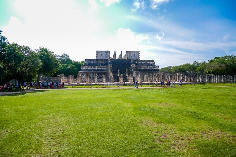 Tempel av krigarna royaltyfria foton
