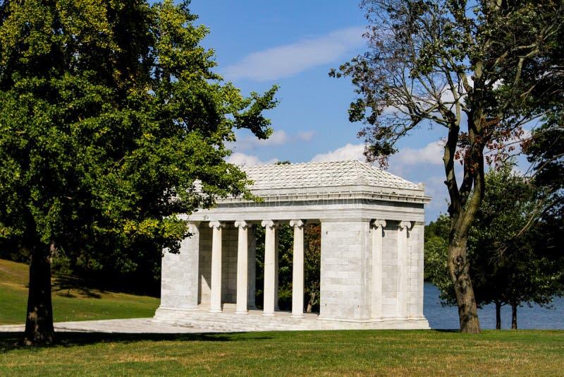 Tempel av musik, Roger Williams Park, försyn, RI royaltyfria bilder