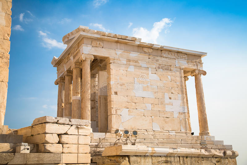 Tempel av Nicky Ateros eller Athena Nike royaltyfria foton