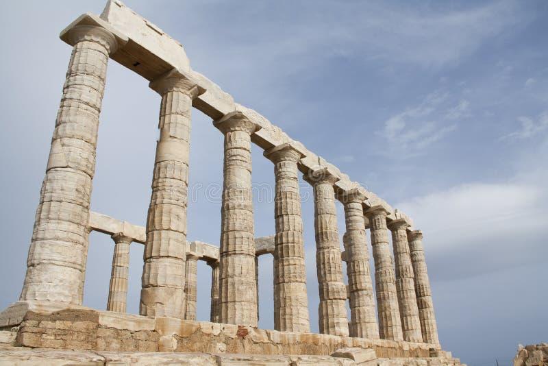Tempel av Poseidon arkivfoto