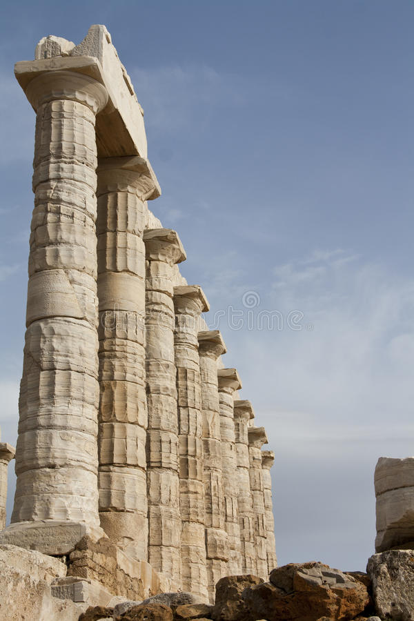 Tempel av Poseidon arkivbild