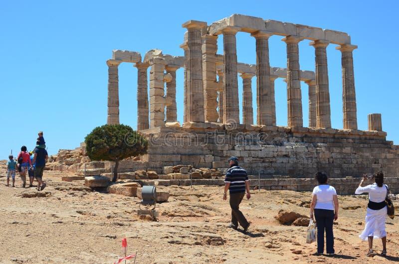 Tempel av Poseidon-1 royaltyfria bilder
