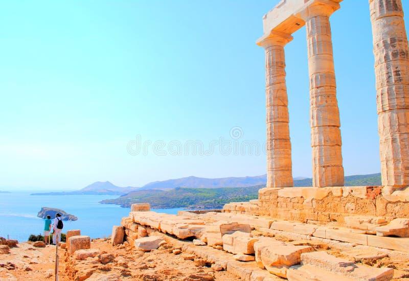 Tempel av Poseidon royaltyfria bilder