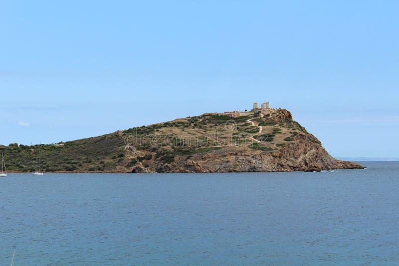 Tempel av Poseidon Aten Grekland royaltyfri foto