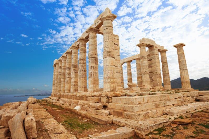 Tempel av Poseidon på medelhavet, Aten royaltyfri fotografi