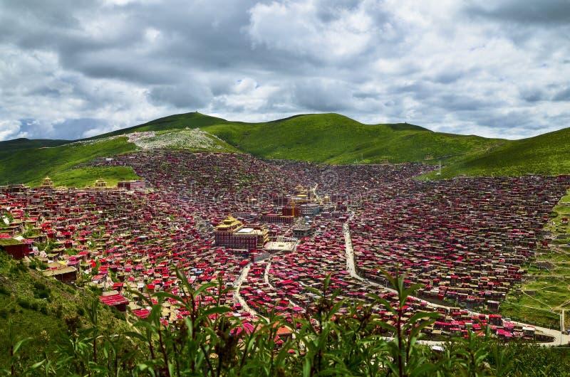 Tempel av tibetan buddism royaltyfria bilder