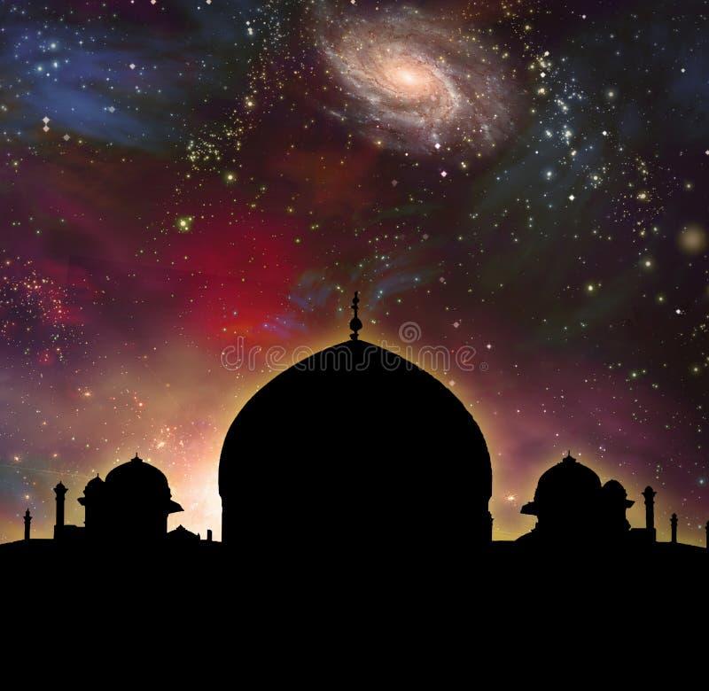 Tempel av universumet vektor illustrationer