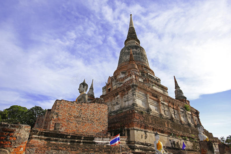 Tempel in Ayudhaya, Thailand lizenzfreie stockfotos