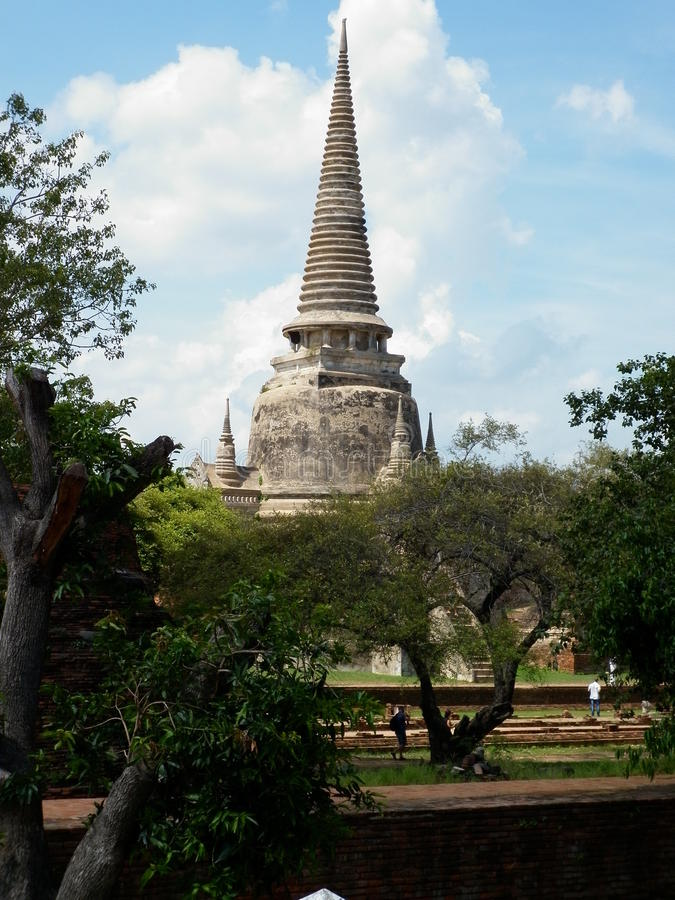 Tempel - Ayutthaya fotografering för bildbyråer