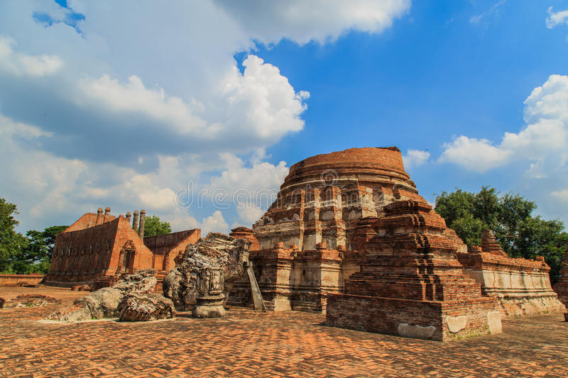 Tempel in Ayutthaya royalty-vrije stock foto