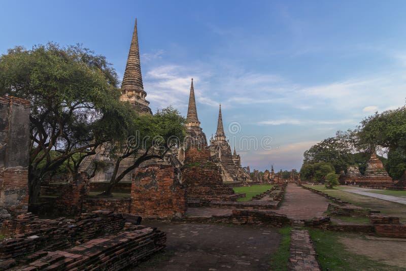 Tempel in Ayutthaya, Thailand royalty-vrije stock foto's
