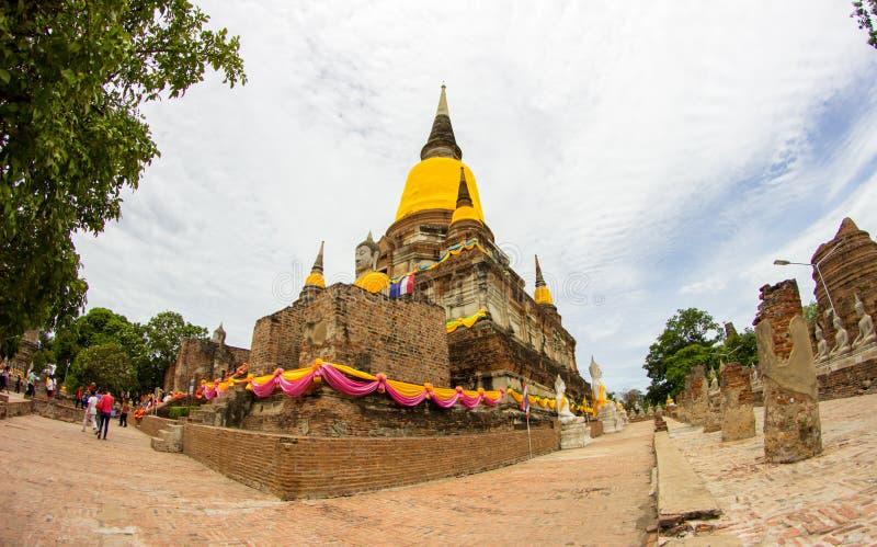 Tempel in Ayutthaya Thailand thailändisch stockbild