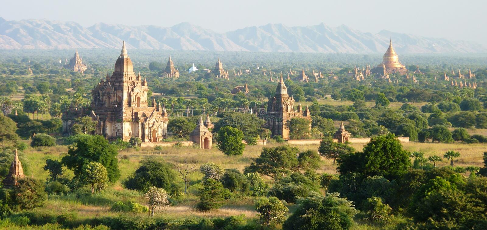 Tempel in Bagan Myanmar stockbild