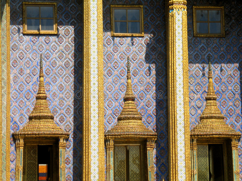 Tempel in Bangkok royalty-vrije stock afbeeldingen