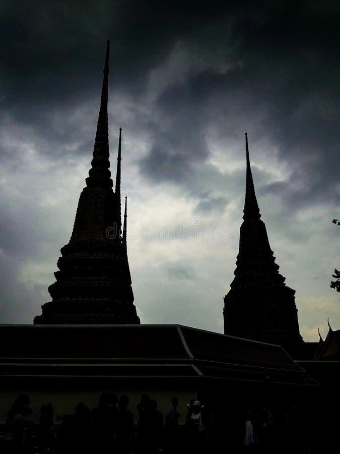 Tempel in Bangkok-Stadt lizenzfreie stockfotografie