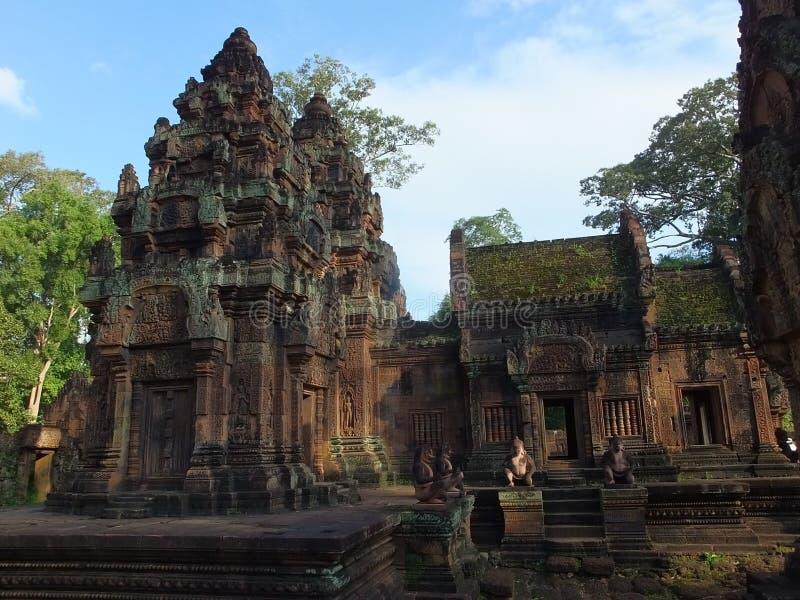 Tempel Banteay Srei in Angkor wat, Cambodia stock image