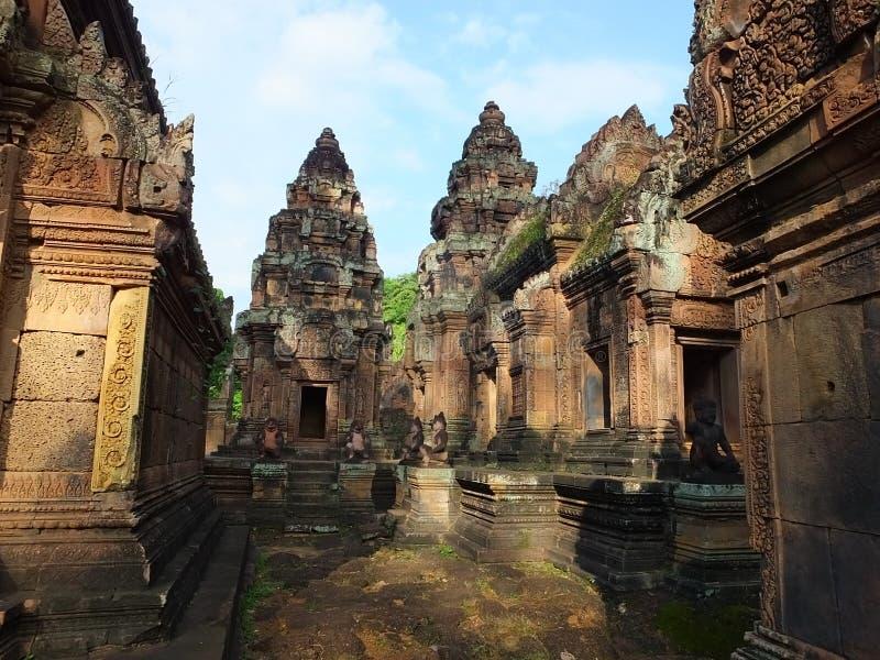 Tempel Banteay Srei in Angkor wat, Cambodia stock photography